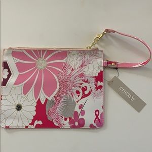 Chico's Pink Floral Wristlet